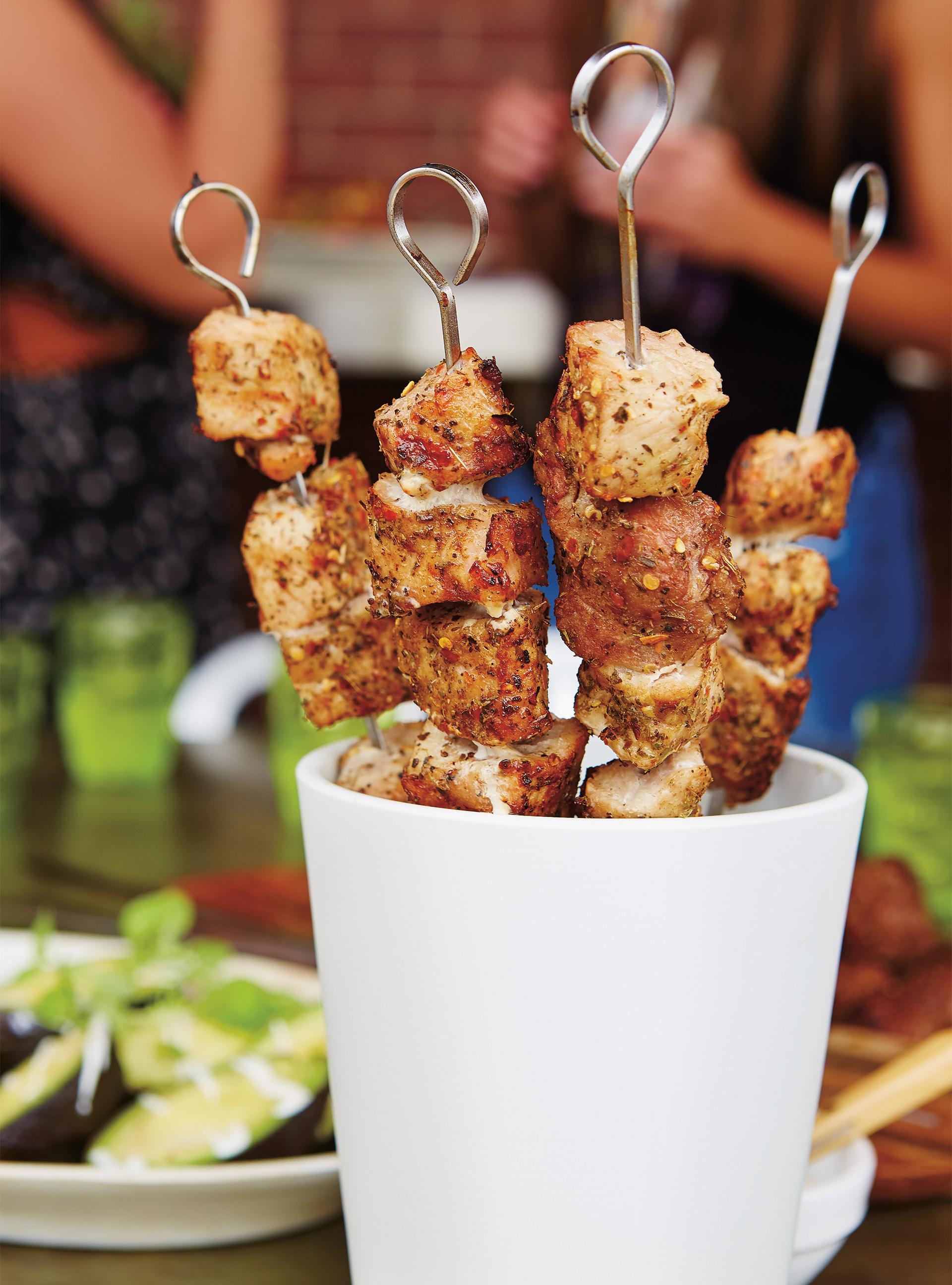 Brochettes de porc frotté aux épices | ricardo