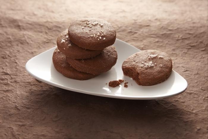 Recette de petits sablés cacao et fleur de sel facile et rapide