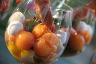 Recette salade de melon, crevettes, coeurs de palmier et mozzarella