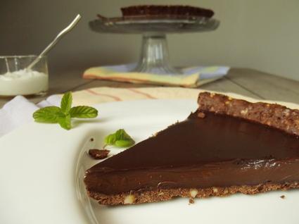 Recette de tarte chocolat menthe allégée