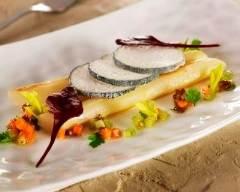 Recette salsifis rôtis, voile de crottin de chèvre cendré rians ...