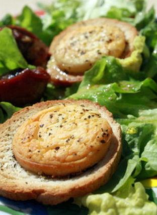 Recette de salade de chèvre chaud