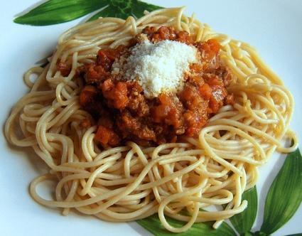 Recette spaghettis à la sauce bolognaise (boeuf)