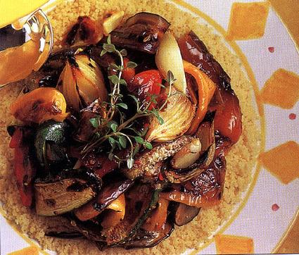 Recette de couscous aux légumes grillés
