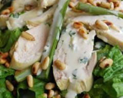 Recette salade de poulet et d'asperges, sauce crémeuse à l'estragon