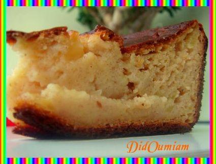 Recette de gâteau vanillé pomme banane