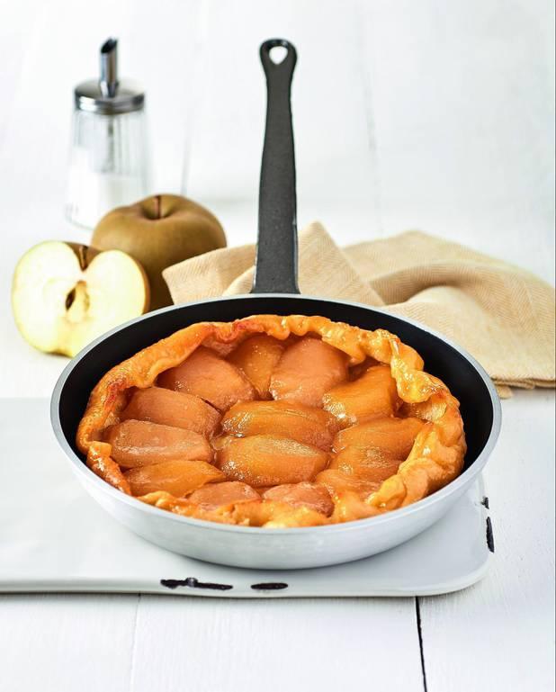 Tarte tatin pomme et caramel sans four pour 4 personnes