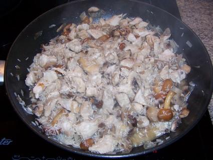 Risotto au poulet et champignons inratable