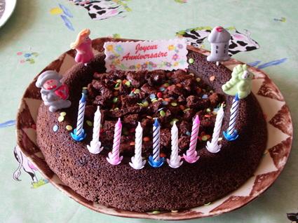 Recette de gâteau d'anniversaire au chocolat