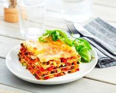 Recette lasagnes poulet, légumes du soleil et mozzarella