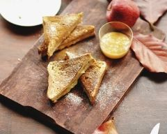 Recette pain perdu à la compote de pommes