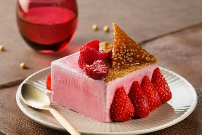 Recette de parfait glacé aux fruits rouges et éclats de nougatine au ...