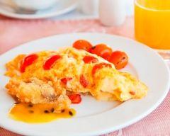 Recette omelette à la tomate