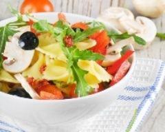 Recette salade de pâtes minceur aux champignons, tomates et ...