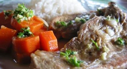 Recette de veau aux carottes, oignons et riz