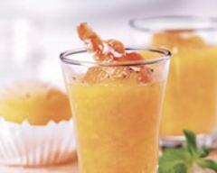 Recette soupe glacée pêche-abricot à l'orientale