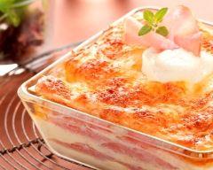Recette lasagnes légères au chèvre et au bacon