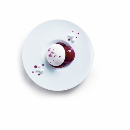 Recette de le vacherin glacé ''rubis'' au croquant de pralines ...