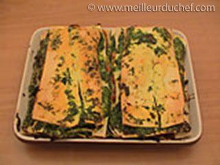 Lasagnes aux epinards, jambon et champignons  recette de ...