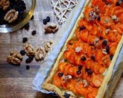 Recette tarte à la carotte et aux petits oignons