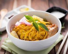 Recette curry de nouilles à la thaïe