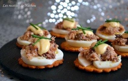 Recette de petits toasts aux oeufs et sardines citronnées ...