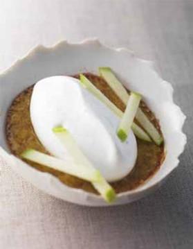 Crème brûlée de foie gras et pomme pour 4 personnes