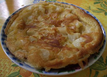 Recette de gâteau aux cerises à la poêle