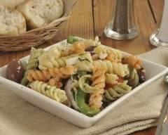 Recette salade de nouilles aux légumes et au fromage de chèvre