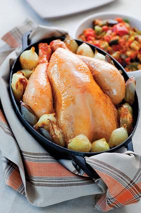 Recette de poulet en cocotte aux échalotes et oignons grelot