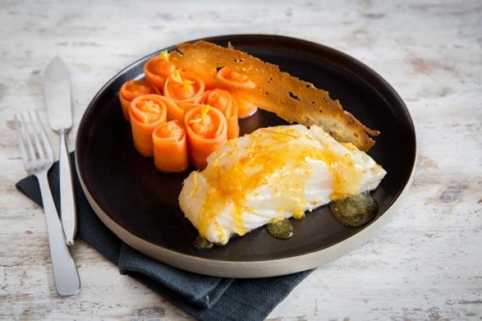 Recette de pavé de skrei cuisiné au beurre d'agrumes, purée de ...