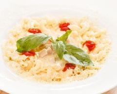 Recette risotto de coquillettes au jambon et fromage