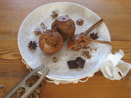 Muffins au nutella et aux noix