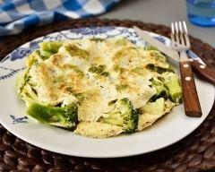 Recette omelette aux brocolis et fromage frais