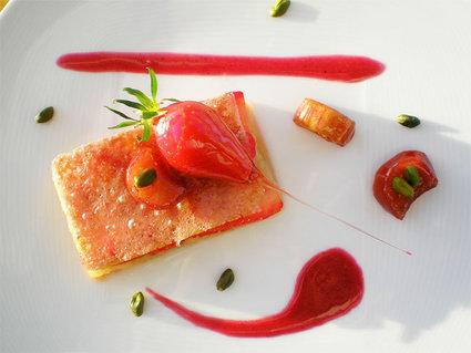 Recette de craquant de fraises et bonbons rhubarbe