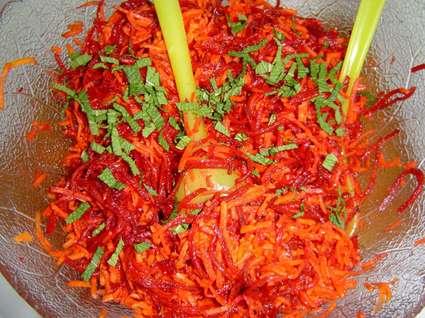 Recette de salade de carottes et betteraves râpées