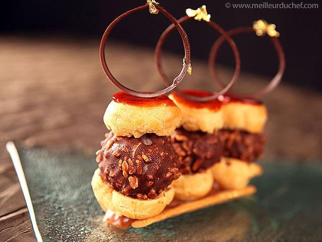 Profiteroles caramel chocolat  notre recette avec photos ...