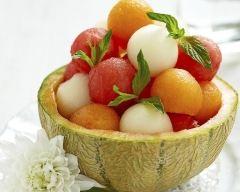 Recette salade de melons à la menthe fraîche
