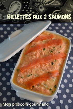 Recette de rillettes aux deux saumons et yaourt nature