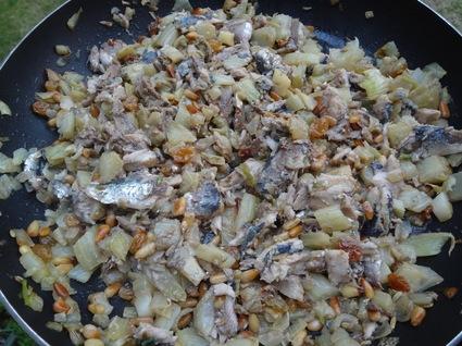 Recette de pasta aux sardines