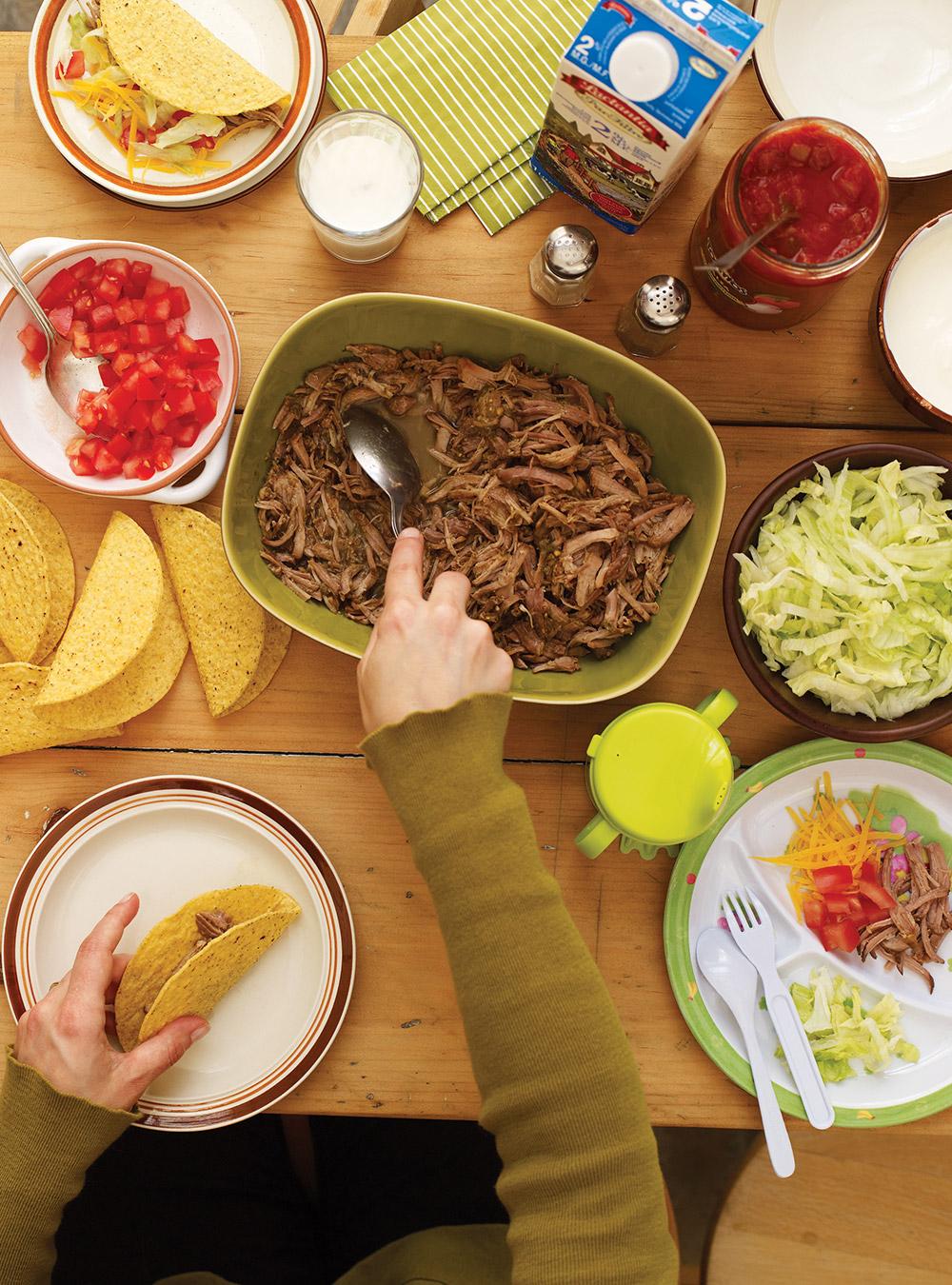 Tacos de porc à la salsa verde | ricardo