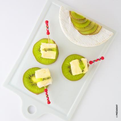 Recette de carpaccio de kiwi frais au camembert président