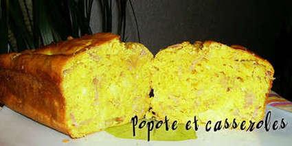 Recette de cake jambon, ananas, chèvre, épices à colombo