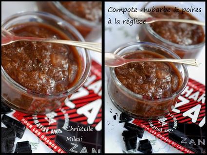 Recette de compote rhubarbe et poires à la réglisse