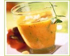 Recette verrine de soupe froide aux poivrons rouges