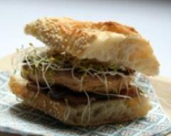 Recette sandwichs de foie gras au confit d'oignons