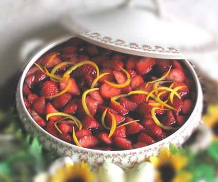 Recette de fraises au vin