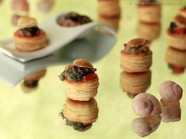 Feuilleté d'escargots aux cèpes  recette de cuisine illustrée ...