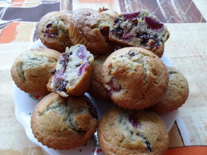 Recette de muffins cerises-chocolat noir