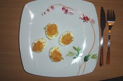 Recette oeufs durs oignons-jambon